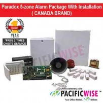 Paradox 5-zone Alarm Package With Installation (CANADA BRAND)