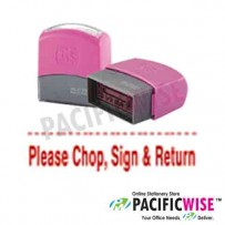 Self-Inking Stamp (RED)-PLEASE CHOP, SIGN AND RETURN
