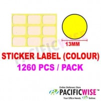 Sticker Label (13mm) (WITH COLOR)