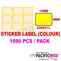 Sticker Label (9mmx13mm) (WITH COLOR)