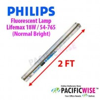 Philips Fluorescent Lamp Lifemax 18W / 54-765 (Normal Bright) (2 ft)