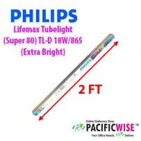 Philips Lifemax Tubelight (Super 80) TL-D 18W/865 (Extra Bright) (2 ft)