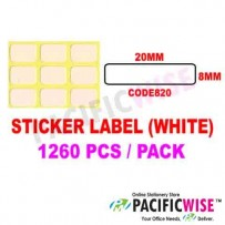 Sticker Label (8mmx20mm)