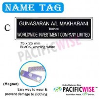 Name Tag (C)-black,wording white