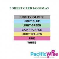 3 Sheet Card 160g (A3) Light Colors