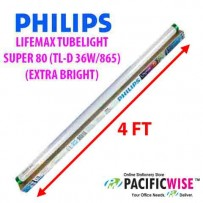 PHILIPS LIFEMAX TUBELIGHT SUPER 80 (TL-D 36W/865)-(EXTRA BRIGHT) (4 ft)