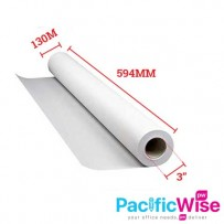 "PLOTTER PAPER A1 594mm(W) x 130m(L) x 3""(C) - MOQ 3ROLL"