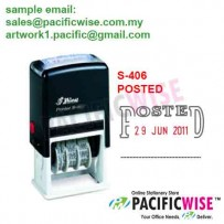 Shiny™ S-406 Self-Inking Dater POSTED
