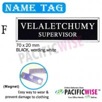 Name Tag (F)-black,wording white