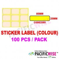 Sticker Label (25mmx85mm) (WITH COLOR)