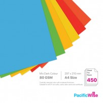 A4 80gsm Dark-Mix Virgin Pulp Multifunction Colour Paper (450's)
