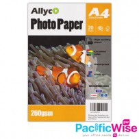 Allyco A4 Glossy Photo Paper 260gsm - 20's