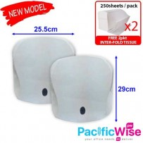 BUY 2 UNIT INTER-FOLD DISPENSER FREE 2PKT INTER-FOLD TISSUE