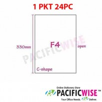 C SHAPE FOLDER (F4 SIZE)-Transparent