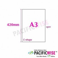 C SHAPE FOLDER (A3 SIZE)-Transparent