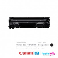 CANON 337/HP 283X TONER CARTRIDGE-BLACK COMPATIBLE (1 unit)