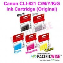 Canon CLI-821 C/M/Y/K/G Ink Cartridge (Original)