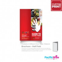 Customized Printing Brochure (Half Fold)-80gsm Simili Paper A3