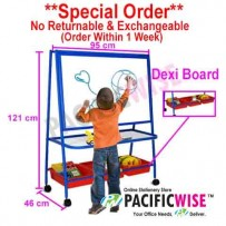 Dexi Magnetic Whiteboard With Basket Single Sided (95 x 121cm)