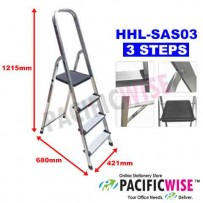 DR.LADDER Aluminium Household Step Ladder-3 Steps (HHL-SAS03)