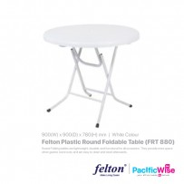 Felton Plastic Round Foldable Table