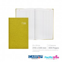 Hard Cover Book Foolscap 3 Columns (300 Pages)