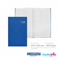 Hard Cover Book Foolscap 3 Columns (400 Pages)
