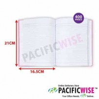 Hard Cover Book Quarto Book F5 Single Line (400 Pages)