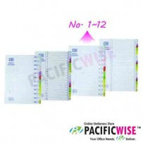 Paper Subject Colour Index (No. 1 ~ 12)