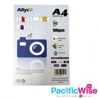 Allyco A4 Inkjet Matte Paper 108gsm - 50's