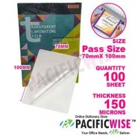 Laminating Film Passport (70 mm x 100 mm x 150 U)