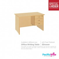 Office Writing Table 5sf with Fixed Pedestal 3Drawer