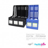 Hippo Magazine Box PVC 2 Tier (MH-208)