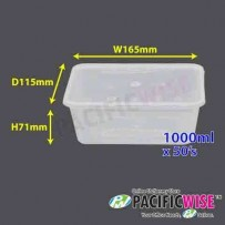 FELTON Rectangular Container 1000ml (RT-1000S) - 50's