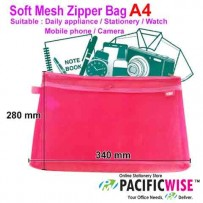Soft Mesh Zipper Bag A4