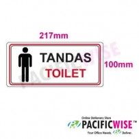 """Toilet (Male)"" Sticker Sign"